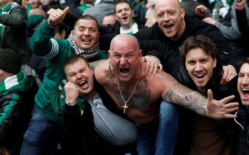 Image for 'Not a bad evening' Joy for Celtic fans as title triumph gets a little closer