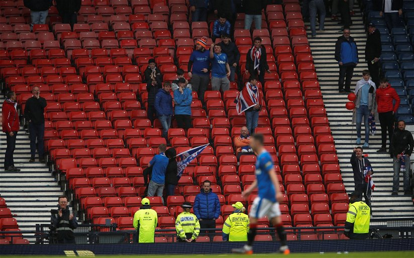 Image for Sevco fans in Murray Park protest
