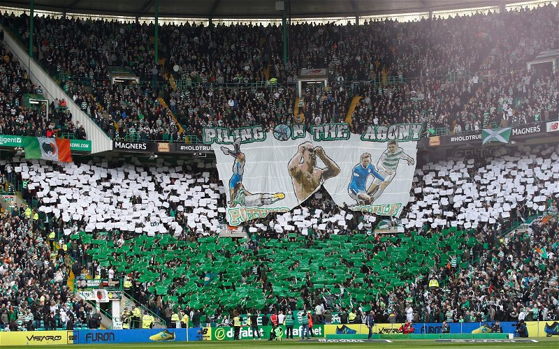 Image for Green Brigade take their message inside Lennoxtown