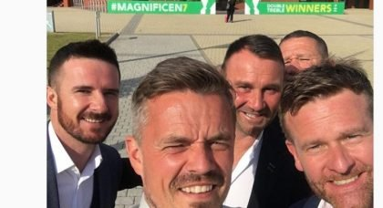 Barry Ferguson's night out at Celtic Park
