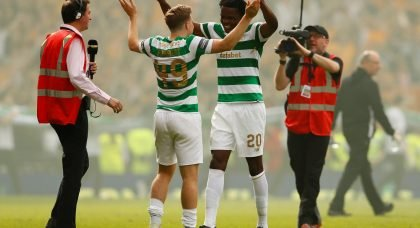 Departing Celt says good-bye by video