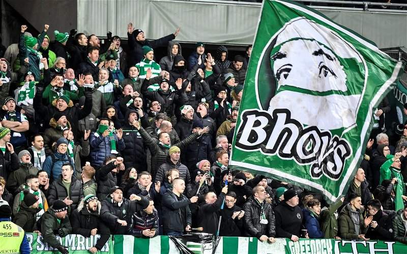 Image for Brilliant video from Rosenborg as Celtic players celebrate with fans