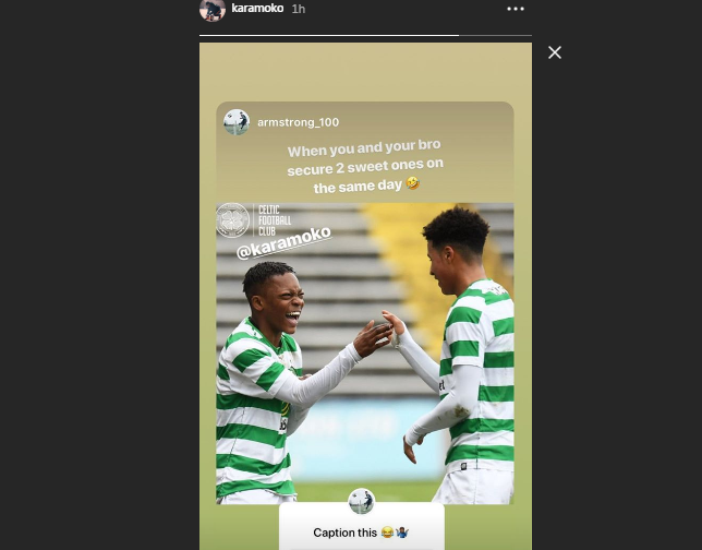 Look at Dembele's delight as he shares goal joy across social media
