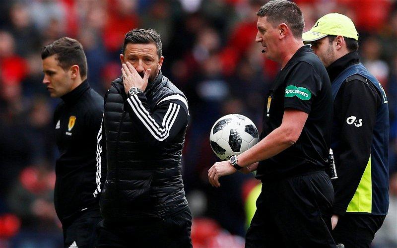 Image for Derek McInnes makes amazing Neil Lennon claim over red card