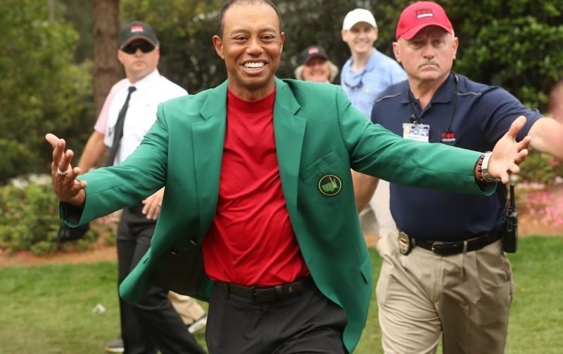 Celtic fan celebrates double triumph with Tiger Woods at Augusta