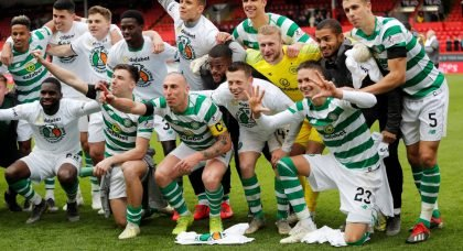 Jubilant Celtic Fans Turn Glasgow Green And White