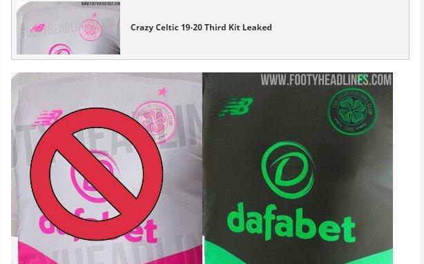 Image for Have New Balance performed a u-turn on Celtic third kit after fan backlash?