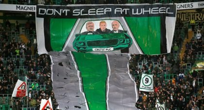 Green Brigade drive their message through to Lawwell and Desmond