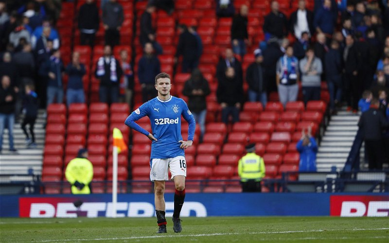 Image for 'Anybody saw Andy Halliday?' 'useless without madden' 'just runs about trying to look hard' Halliday gets it tight from Celtic fans