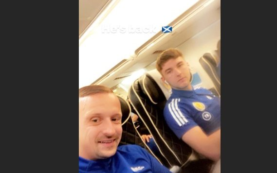 Image for Concerning image emerges from Scotland's flight to Serbia