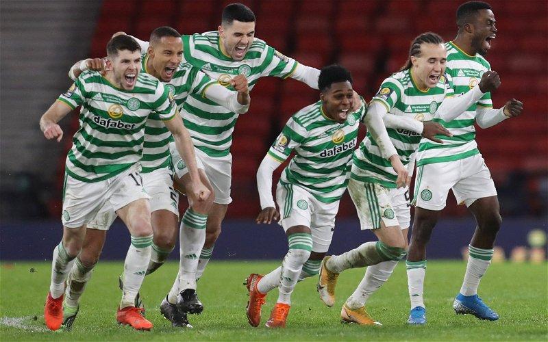 Image for Kris Ajer is the hero as Celtic break Hearts- again